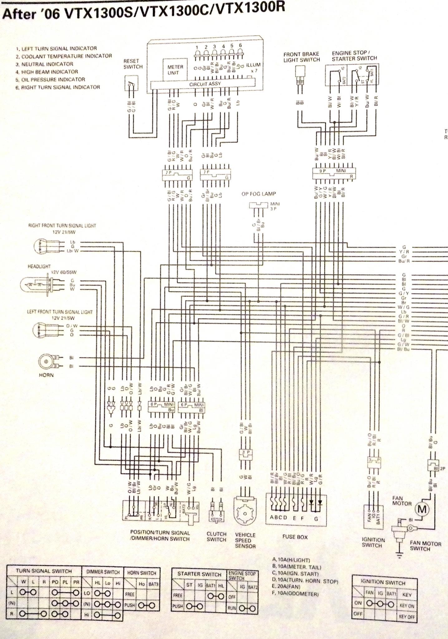 06 1300 R Wiring Schematic | Honda VTX ForumHonda VTX Forum