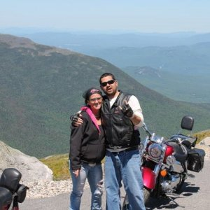 Me and sister on ride to the top 2012. Mt Washington